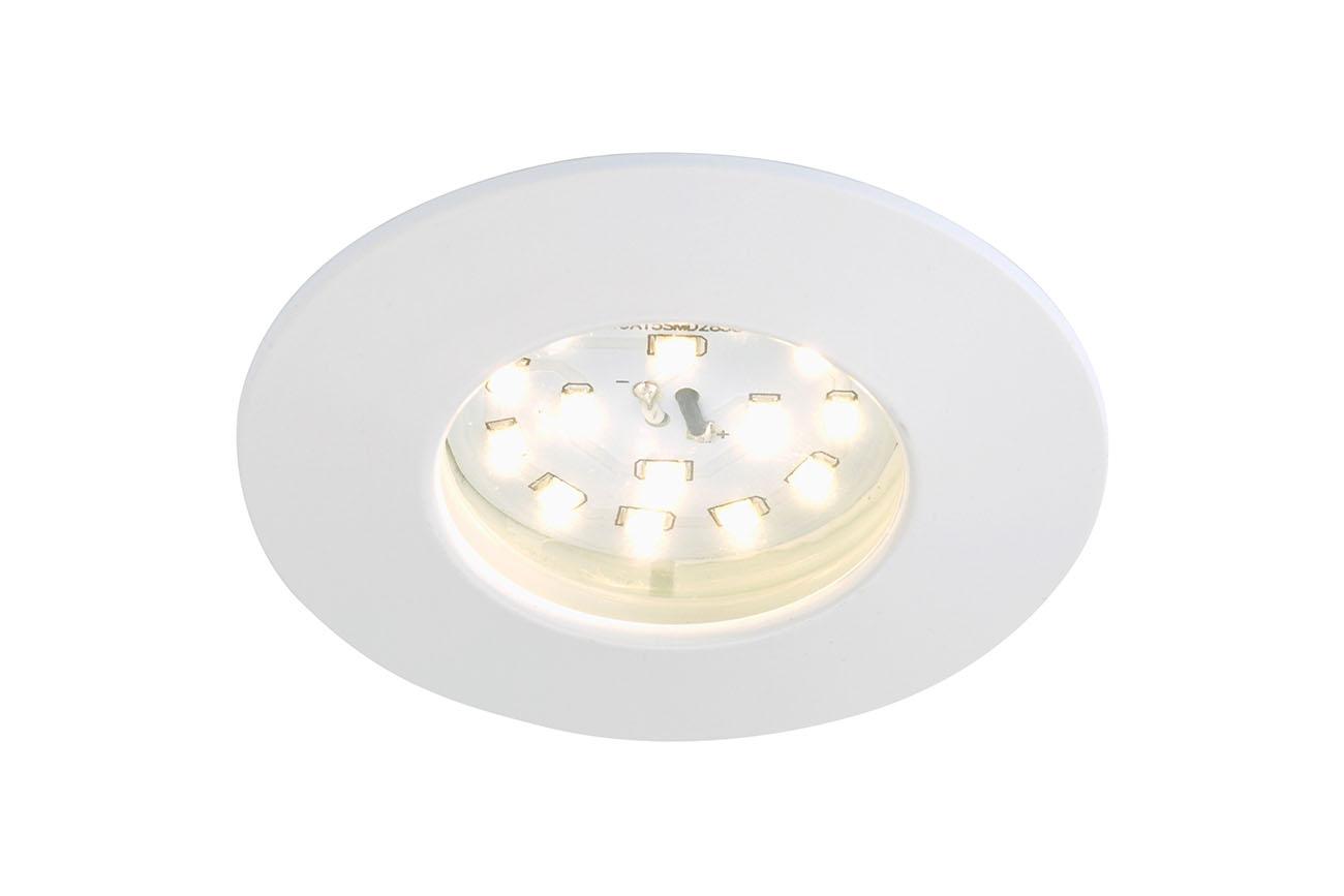 LED Einbauleuchte, Ø 10 cm, 10,5 W, Weiss