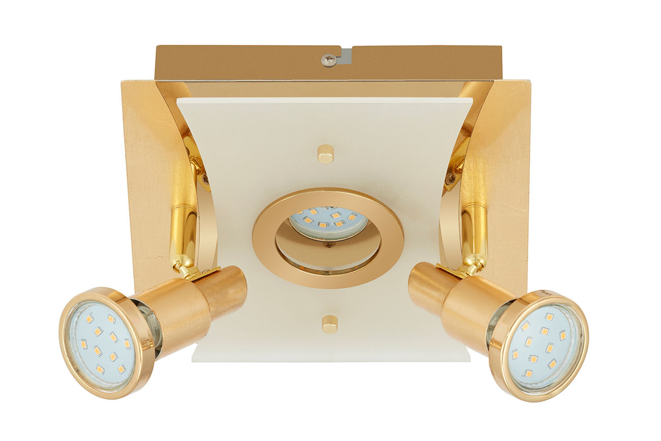 LED Spot Deckenleuchte, 20 cm, 15 W, Gold