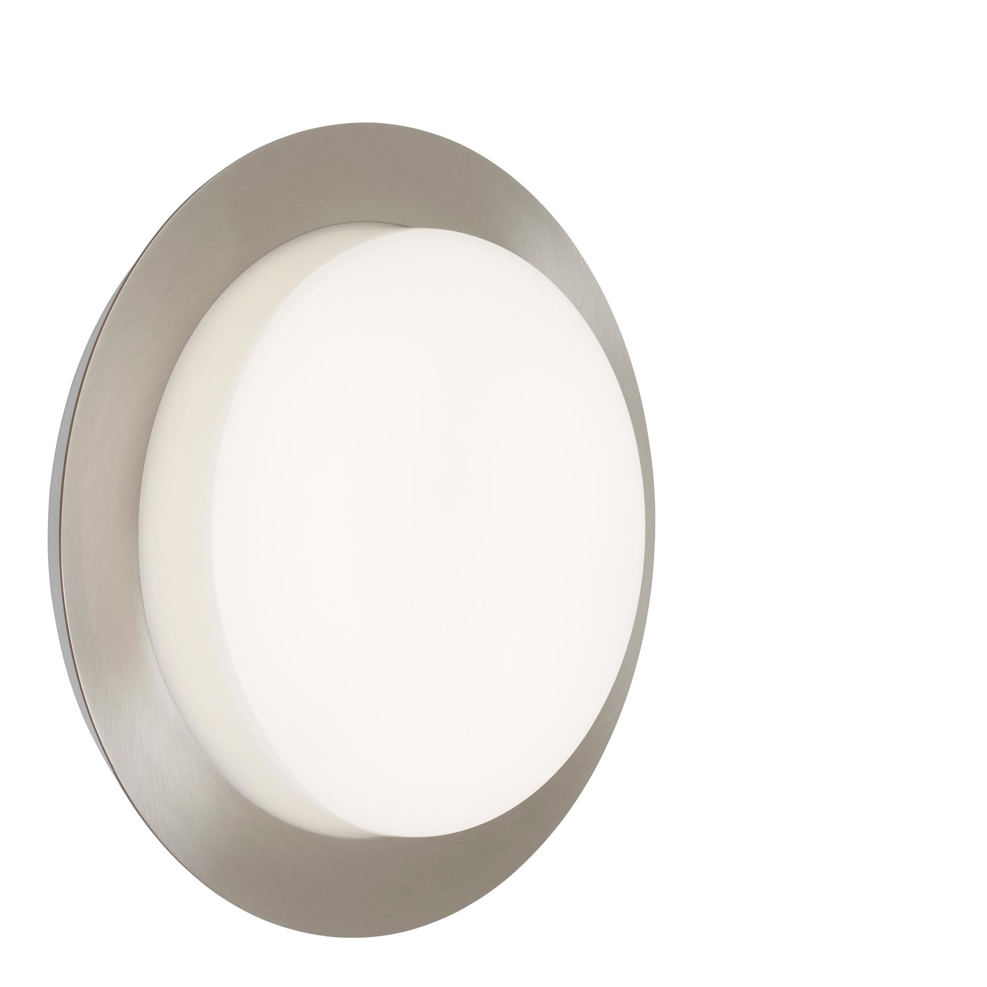 TELEFUNKEN LED Außenwandleuchte, Ø 30 cm, 15 W, Silber
