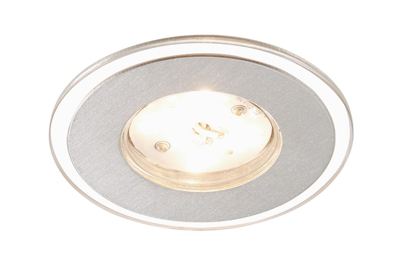 3er Set LED Einbauleuchte, Ø 8 cm, 5 W, Alu
