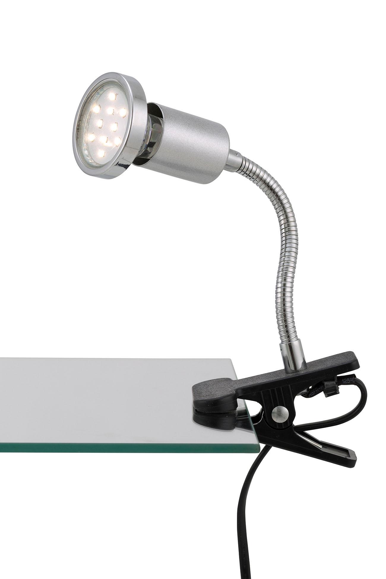 LED Klemmleuchte, Ø 5,5 cm, 3 W, Titan
