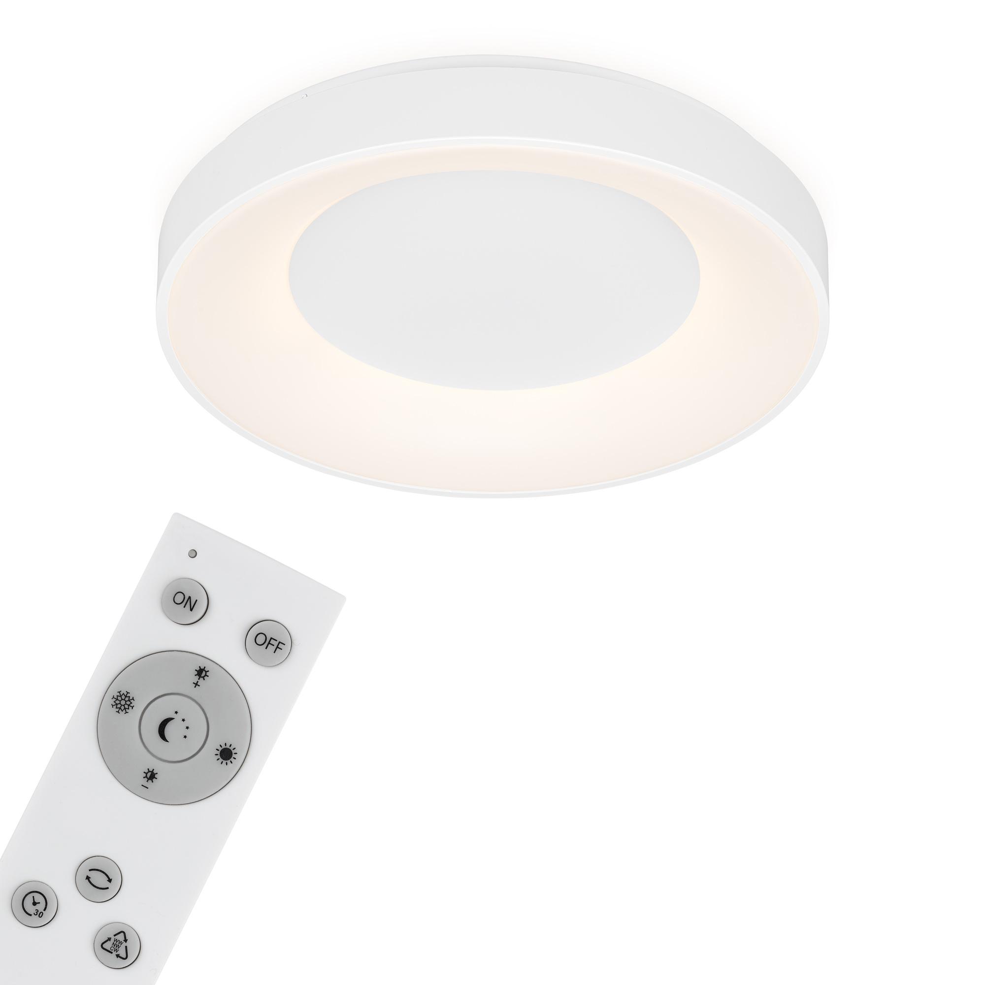 CCT LED Deckenleuchte, Ø 48,4 cm, 36 W, Weiß