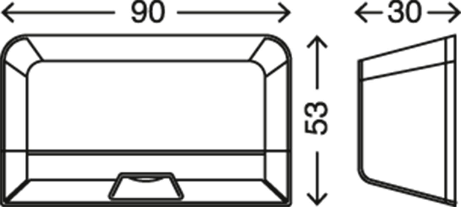 LED Türschlossbeleuchtung, 9 cm, 0,12 W, Silber