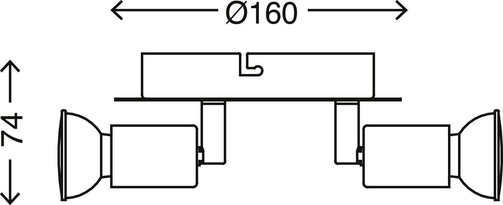 LED Spot Deckenleuchte, Ø 16 cm, 9 W, Chrom