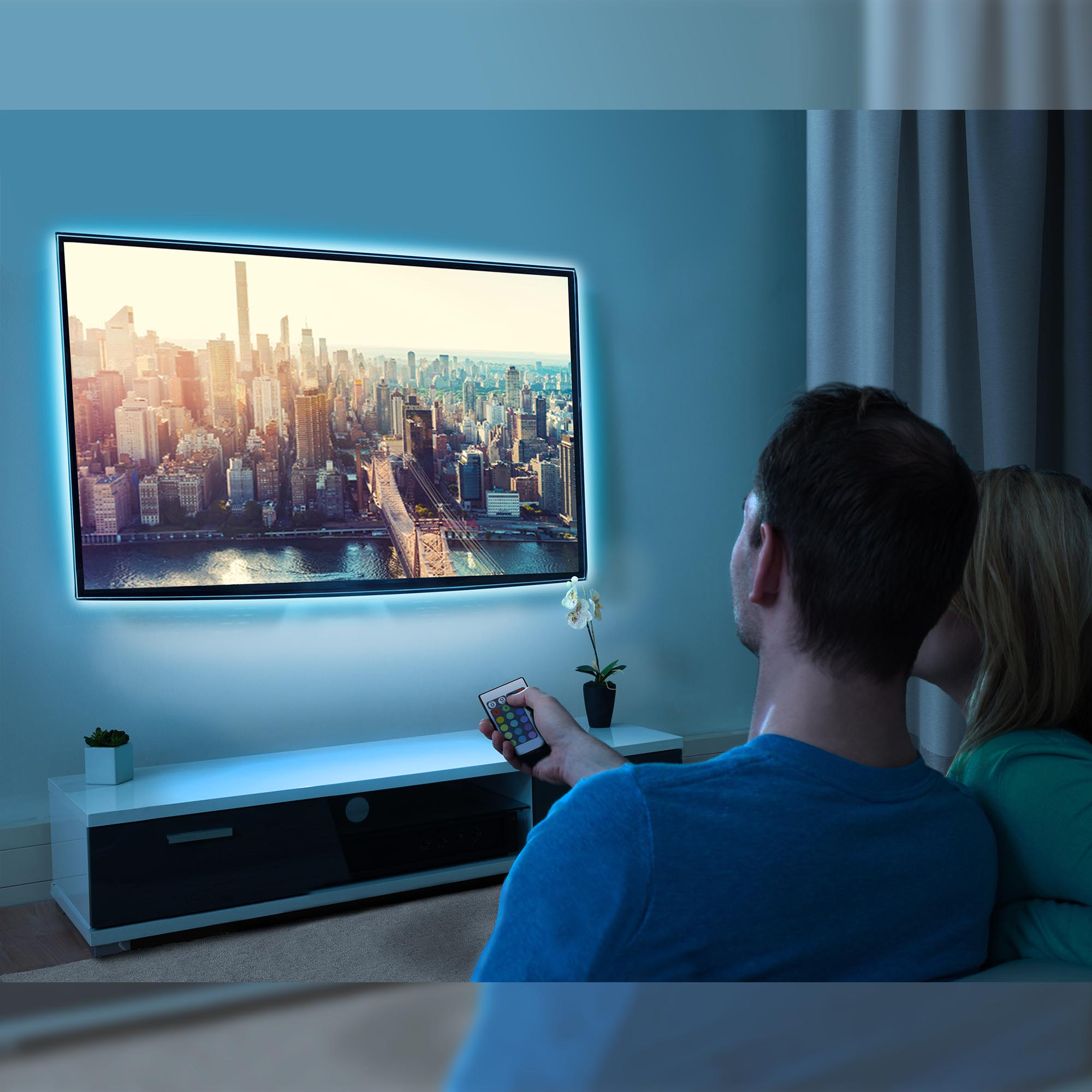 TV-Beleuchtungs Schwarz