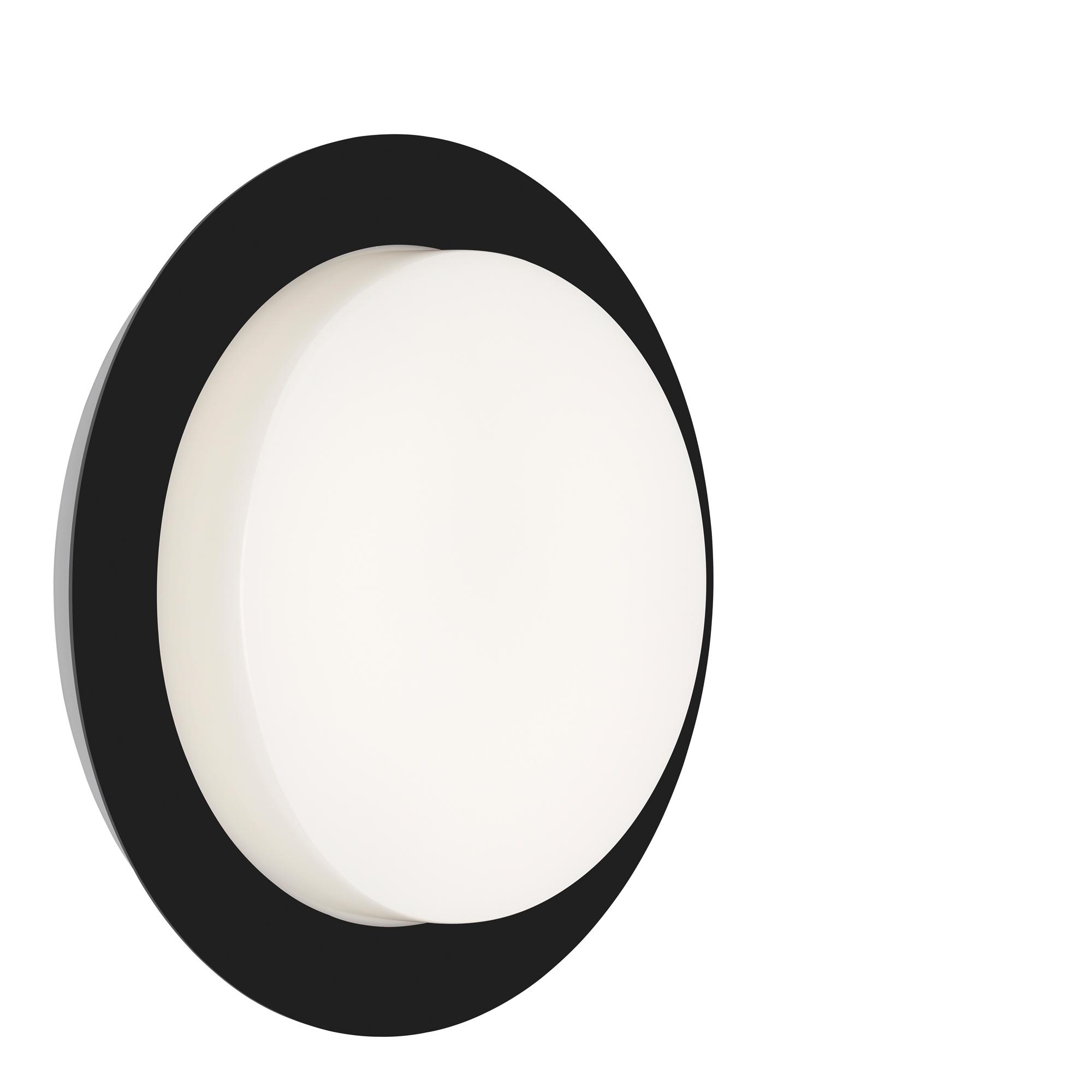 TELEFUNKEN LED Außenwandleuchte, Ø 30 cm, 15 W, Schwarz