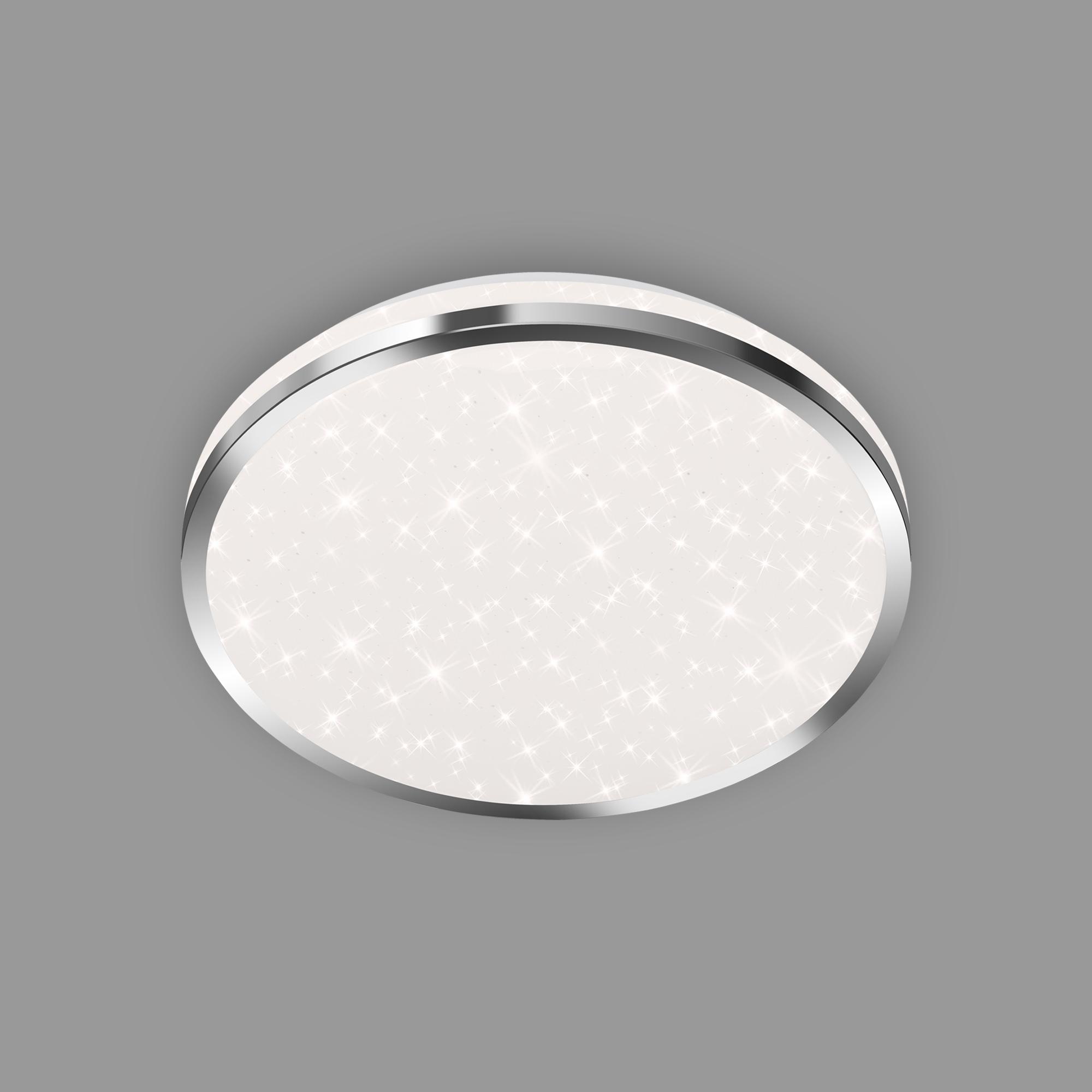 STERNENHIMMEL LED Deckenleuchte, Ø 28 cm, 12 W, Chrom