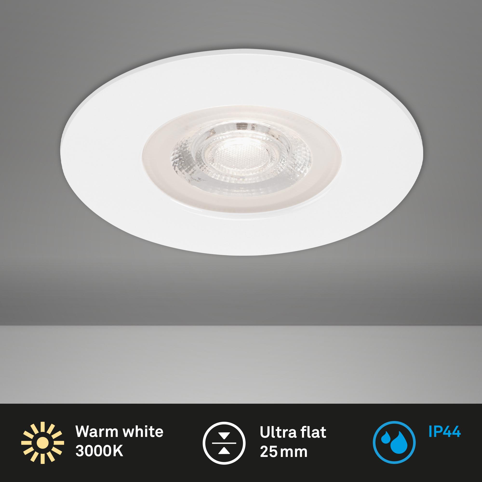 LED Einbauleuchte, Ø 9 cm, 5 W, Weiß