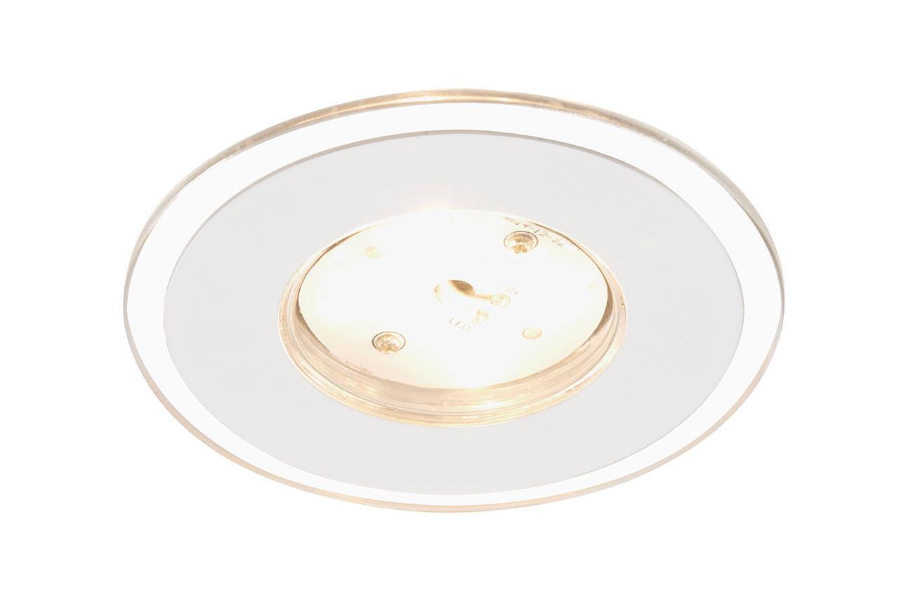 3er Set LED Einbauleuchte, Ø 8 cm, 5 W, Weiss
