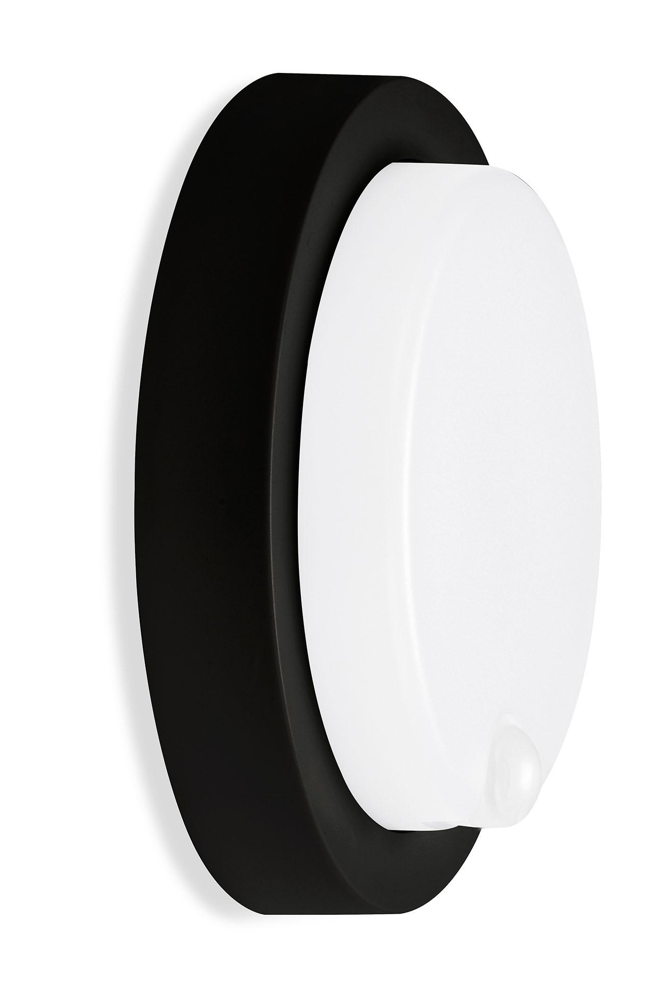 TELEFUNKEN LED Sensor Aussenwandleuchte, Ø 17 cm, 12 W, Schwarz