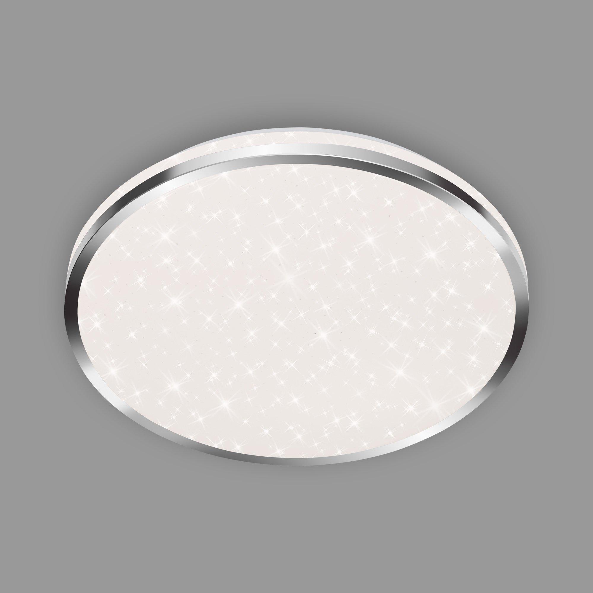STERNENHIMMEL LED Deckenleuchte, Ø 33 cm, 18 W, Chrom