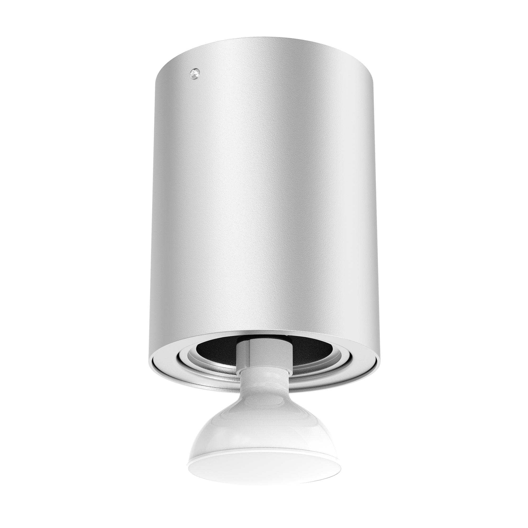LED Aufbauleuchte Silber