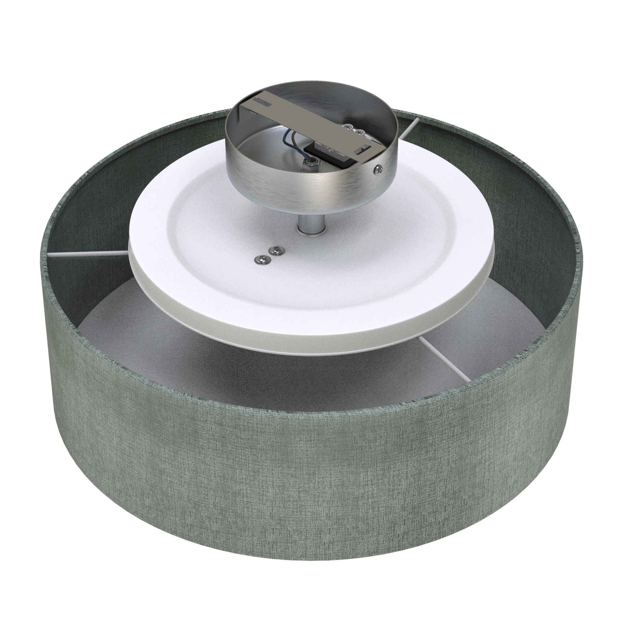 Stoff Deckenleuchte, Ø 30 cm, max. 40 W, Grau