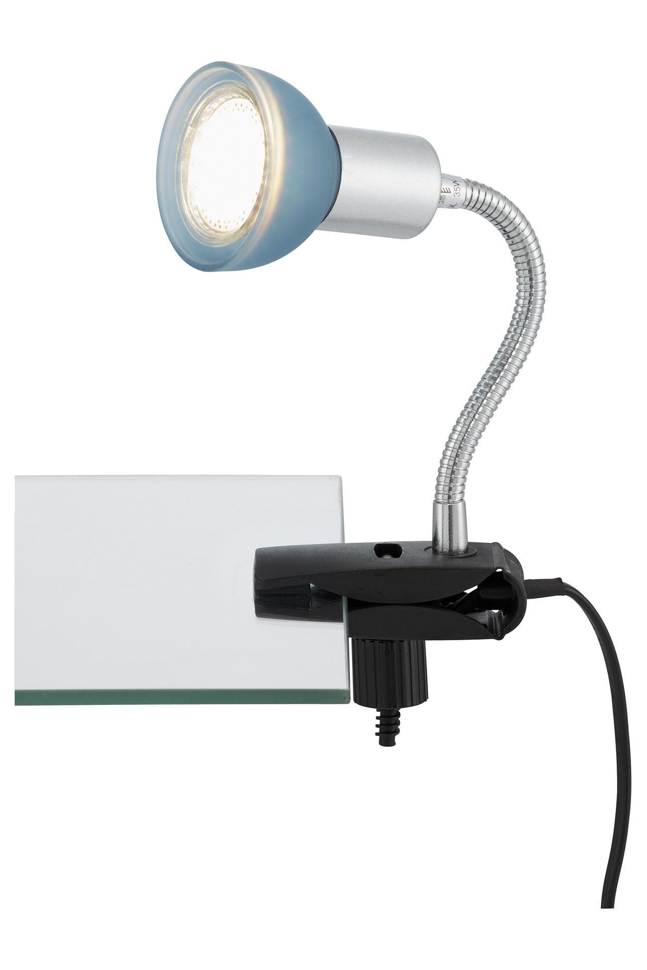 LED Klemmleuchte, 9 cm, 3 W, Titan-Blau
