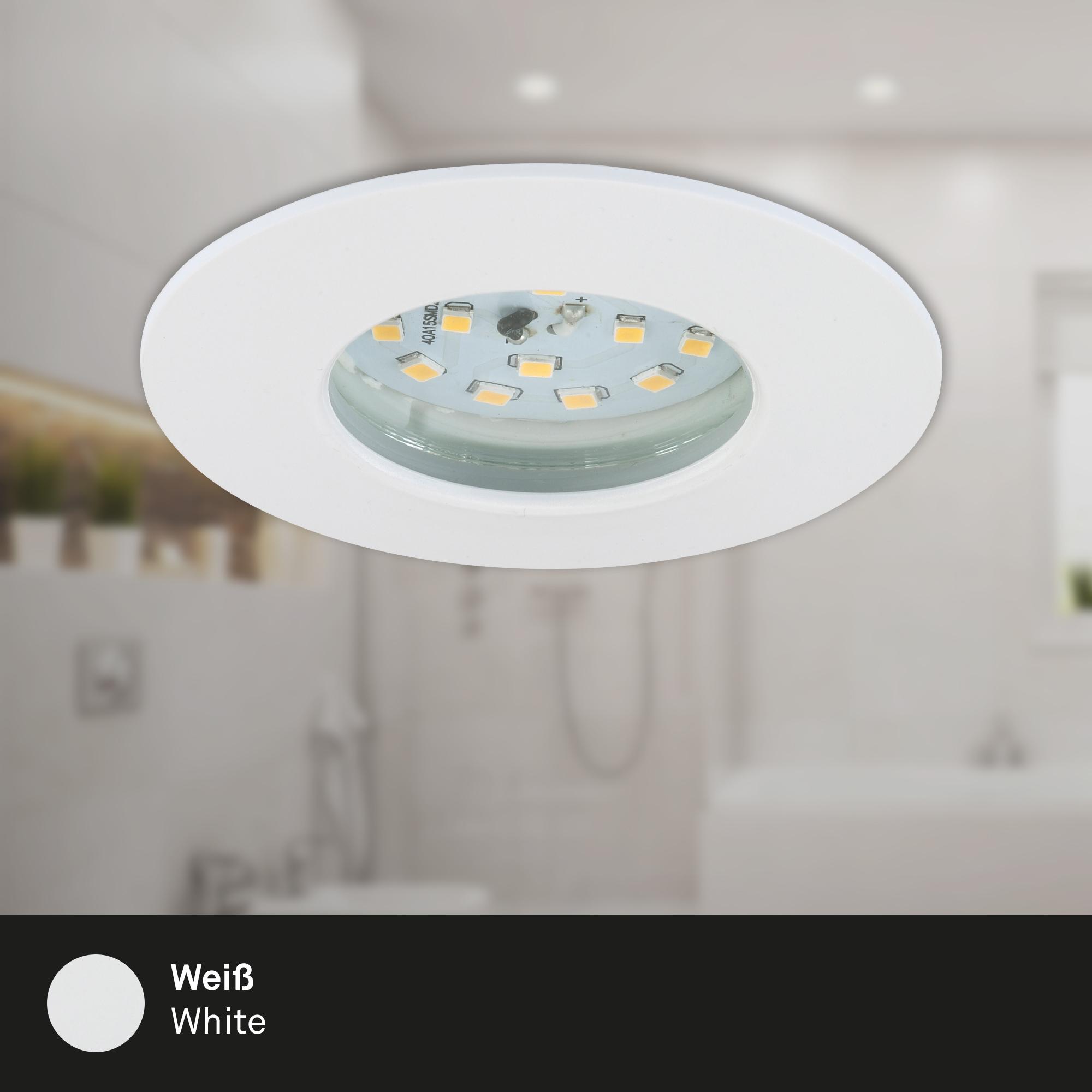 LED Einbauleuchte, Ø 7,5 cm, Weiß