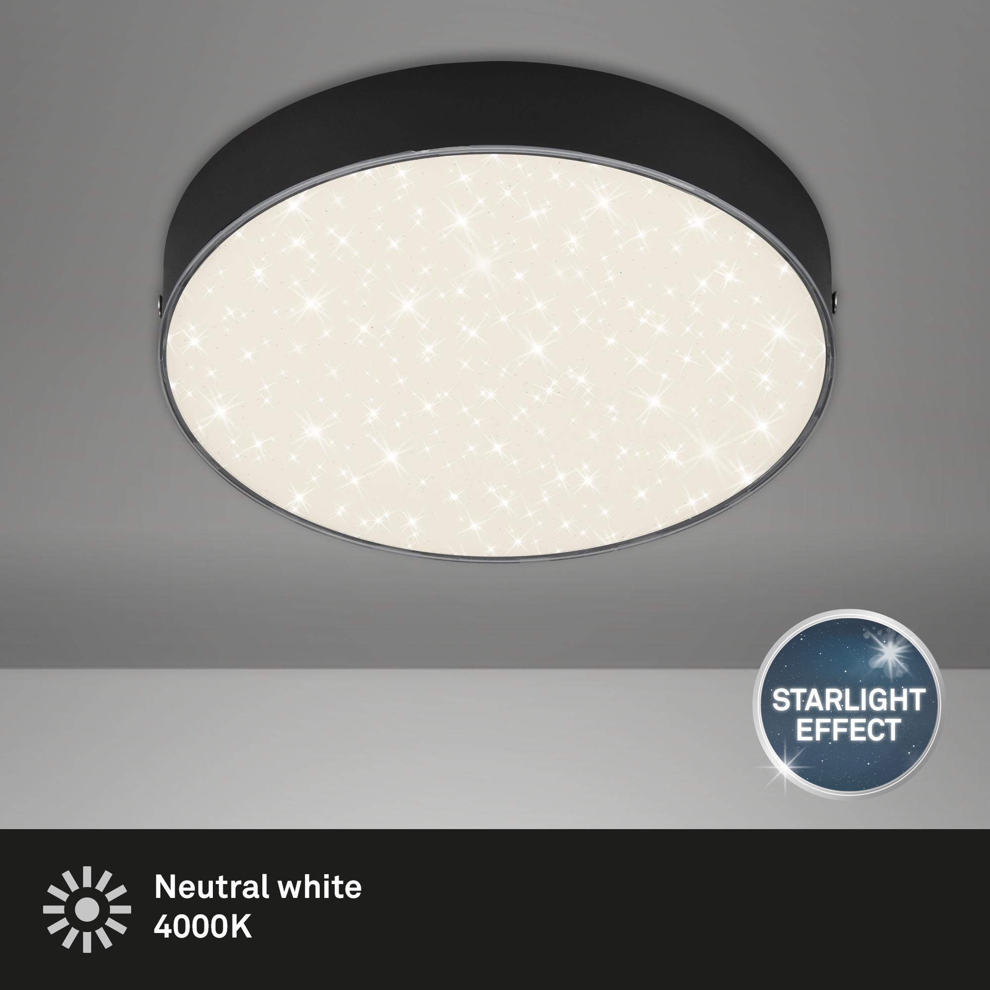 STERNENHIMMEL LED Deckenleuchte, Ø 21,2 cm, 16 W, Schwarz