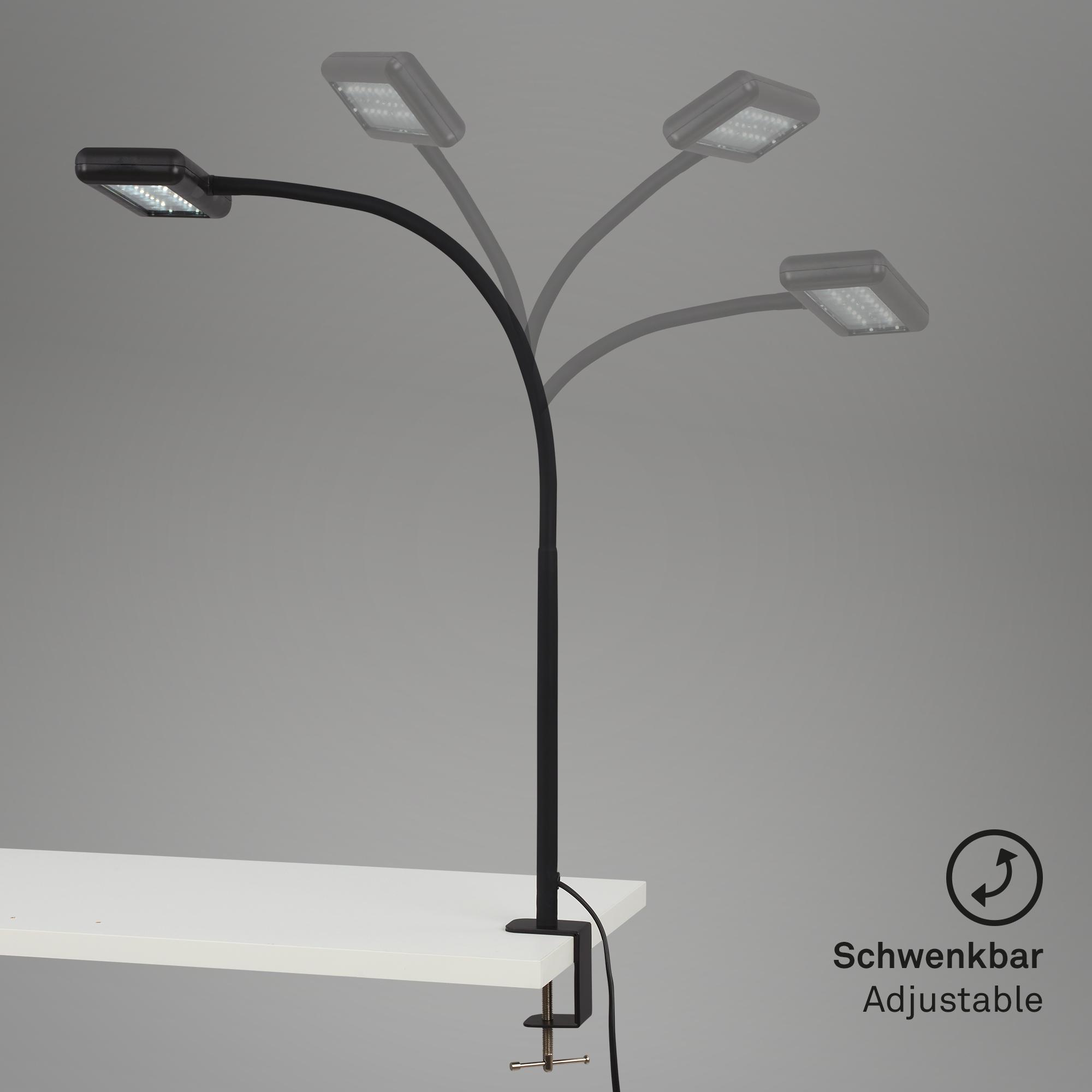 LED Tageslicht Klemmleuchte Schwarz 2604015