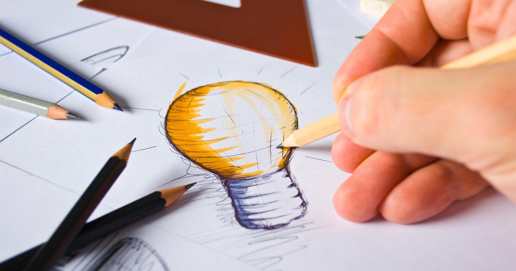 Briloner Qualität und Design Zeichnung  Glühbirne