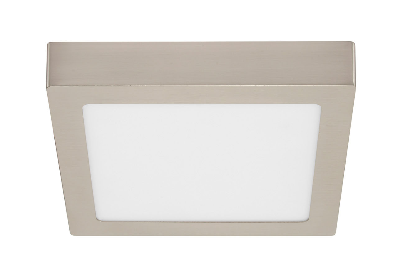TELEFUNKEN Smart LED Aufbauleuchte, 22,5 cm, 18 W, Matt-Nickel