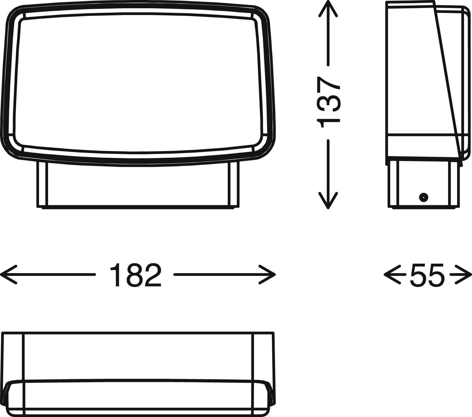 TELEFUNKEN LED Außenwandleuchte, 18,2 cm, 14 W, Schwarz