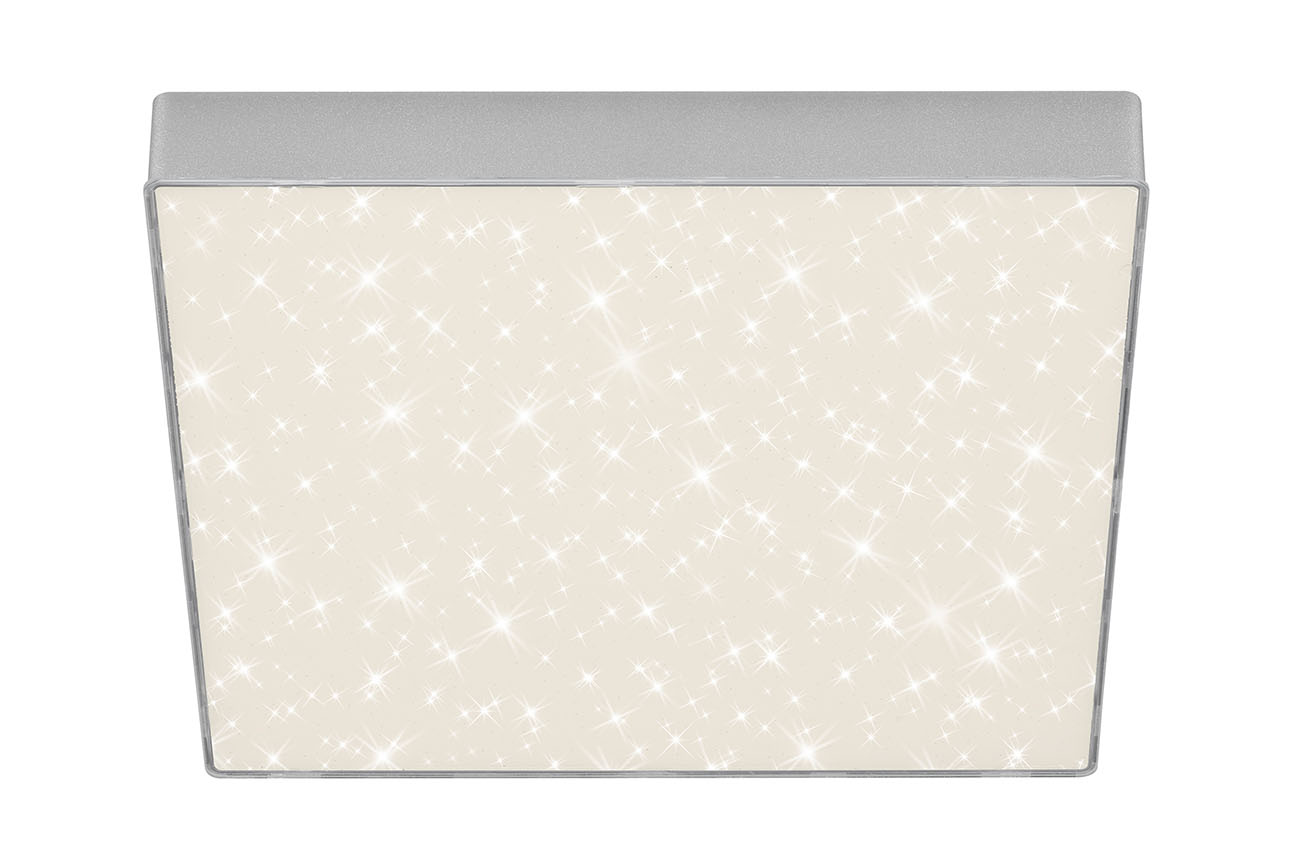 STERNENHIMMEL LED Deckenleuchte, 28,7 cm, 21 W, Silber