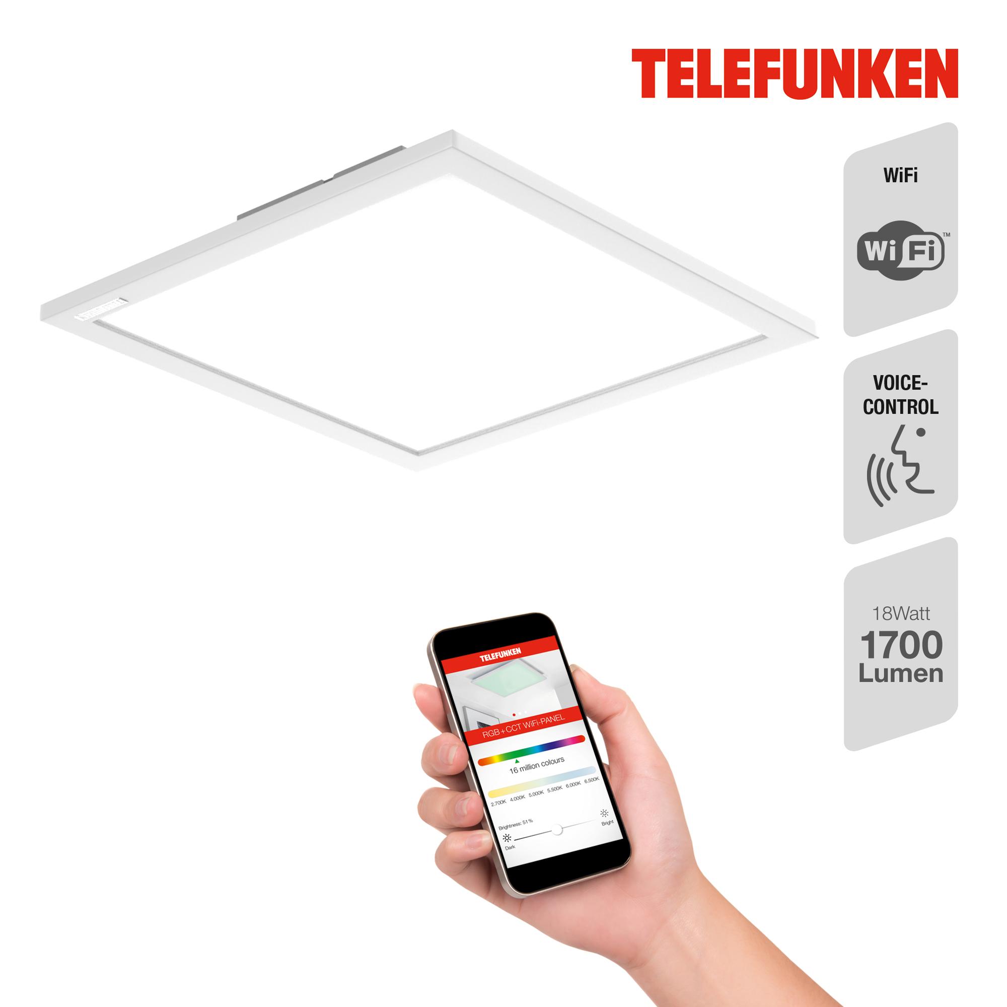 TELEFUNKEN Smart LED Panel, 29,5 cm, 18 W, Weiß