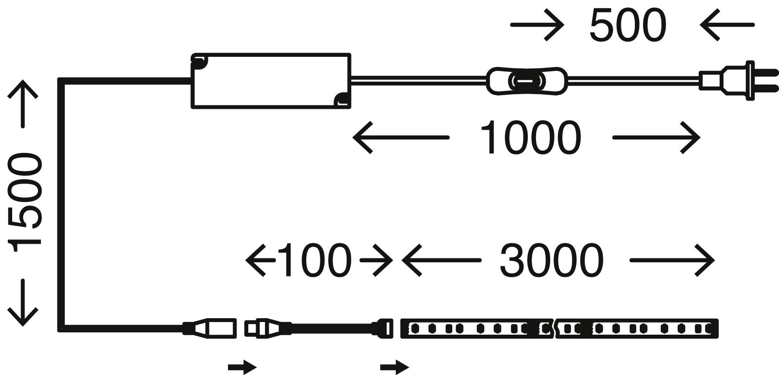 LED Flexband, 3 Meter, 42 W, Silber