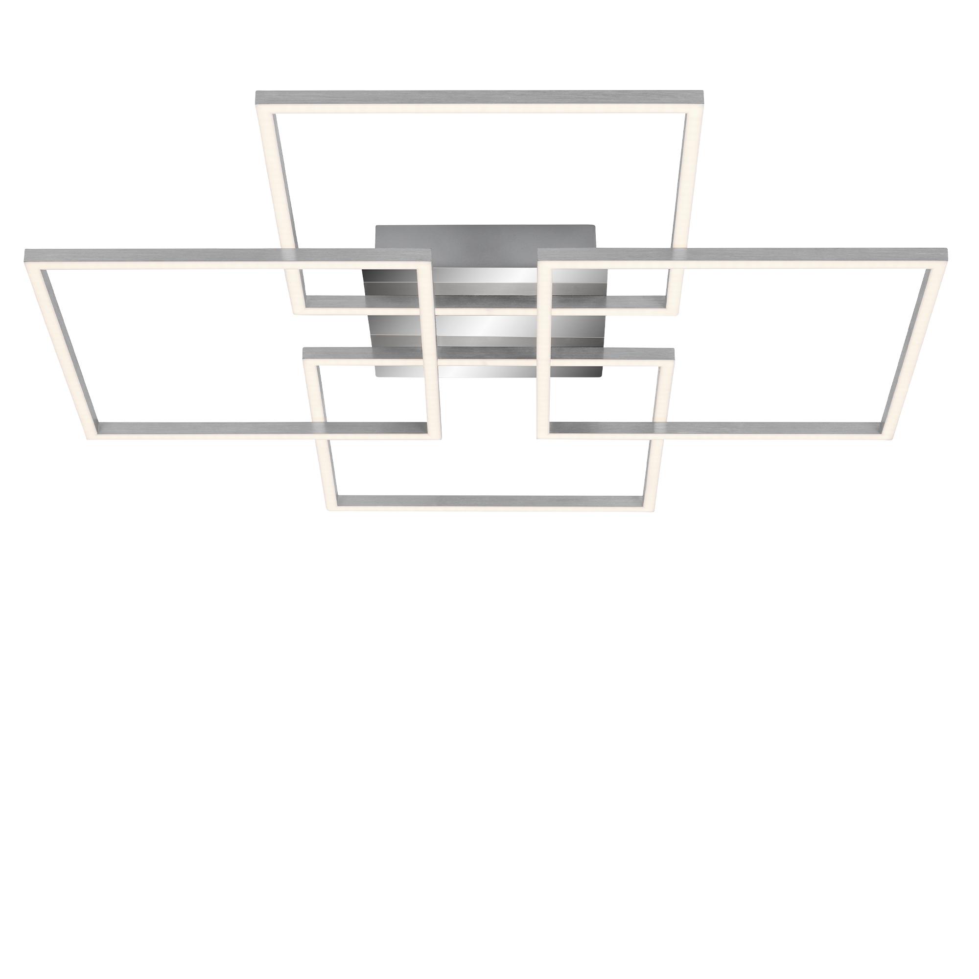 LED Wand- und Deckenleuchte, 72,4 cm, 57 W, Alu-Chrom