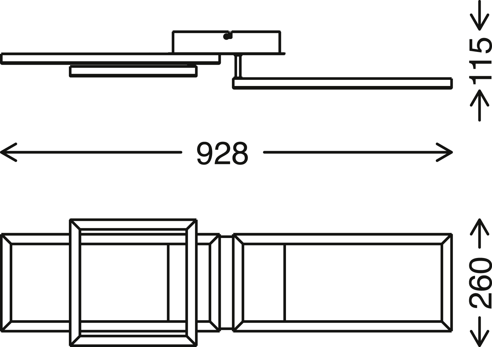 TELEFUNKEN Smart LED Deckenleuchte, 92,8 cm, 30 W, Chrom-Alu