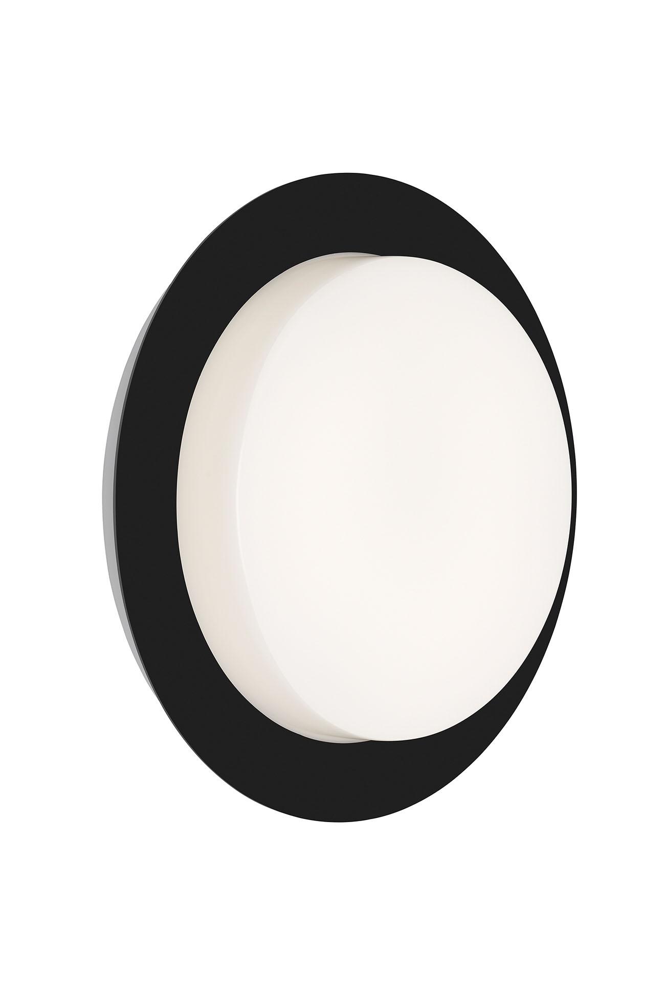 LED Außenleuchte, Ø 18 cm, 9 W, Schwarz