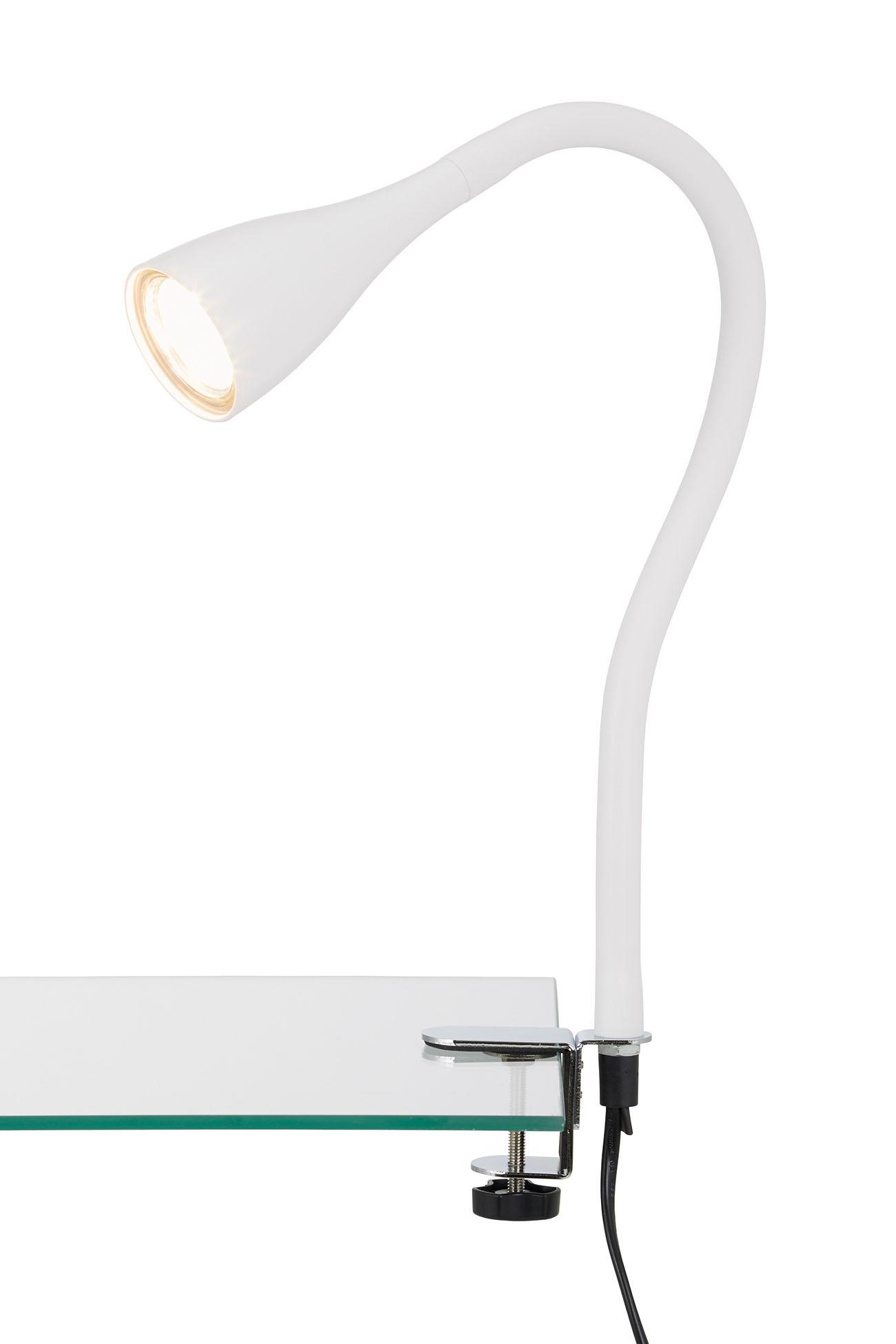 LED Klemmleuchte, 5,5 cm, 3 W, Weiss