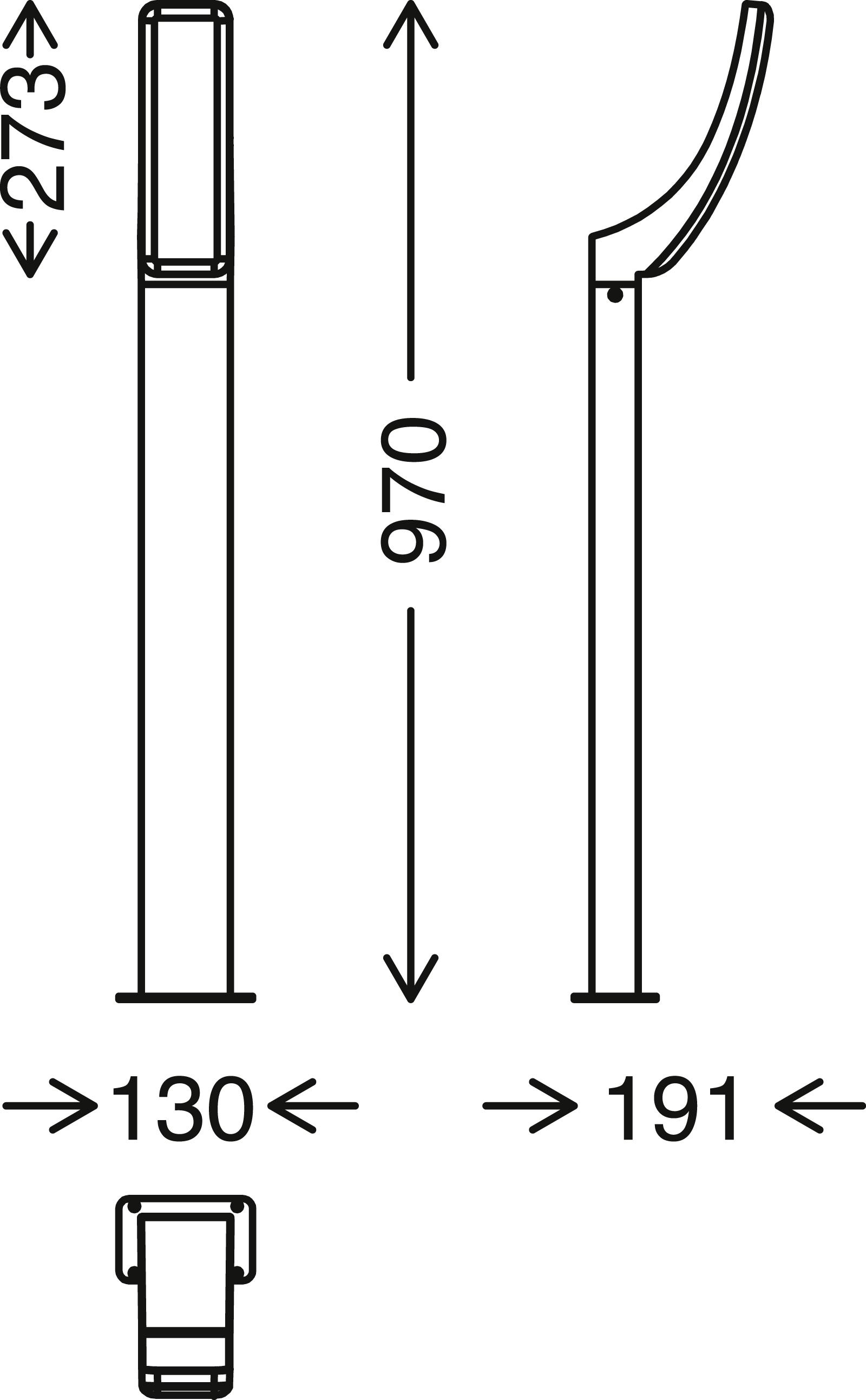 TELEFUNKEN LED Aussenstehleuchte, 97 cm, 15 W, Schwarz