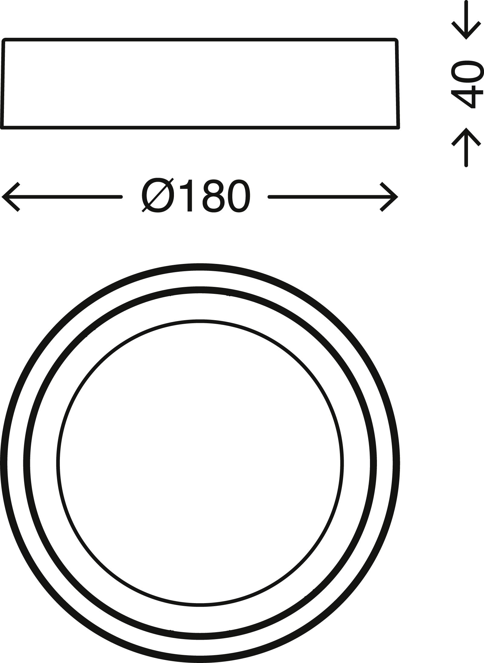 LED Deckenleuchte, Ø 18 cm, 12 W, Weiß