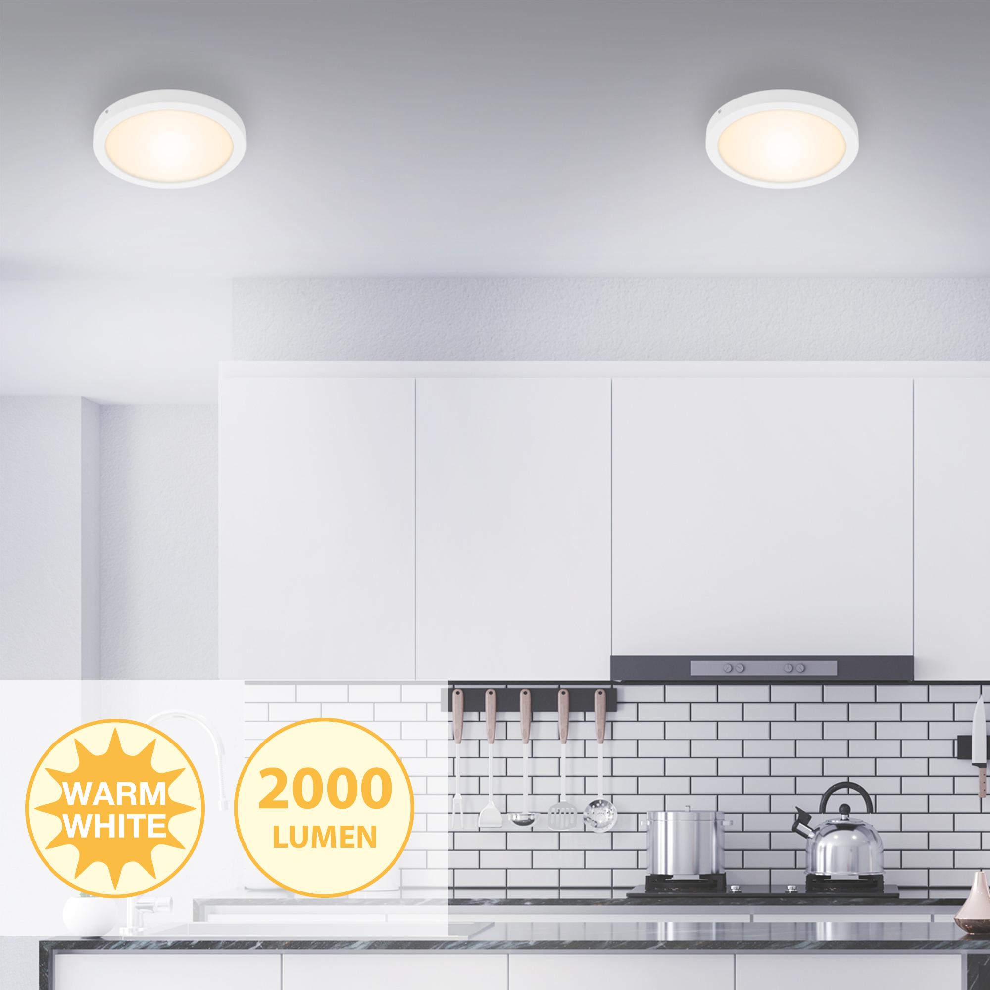LED Deckenleuchte, Ø 30 cm, 21 W, Weiss