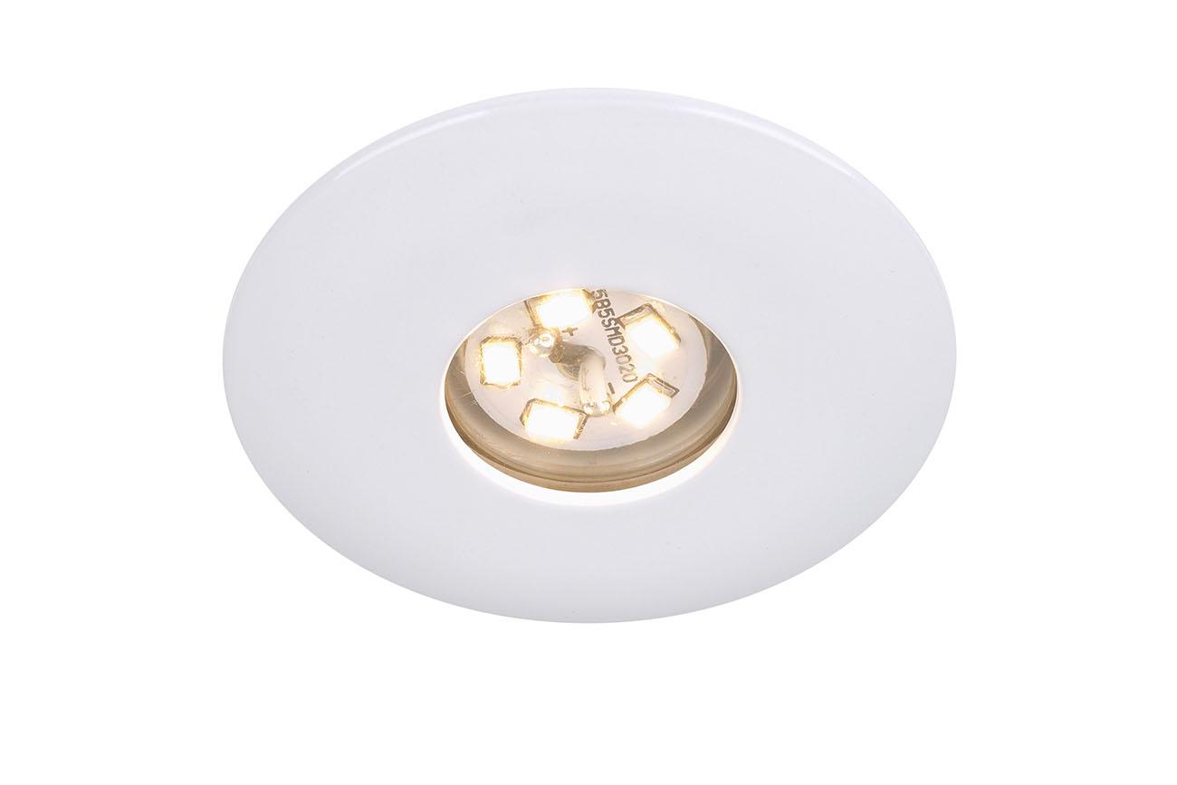 LED Einbauleuchte, Ø 4,5 cm, 2 W, Weiss