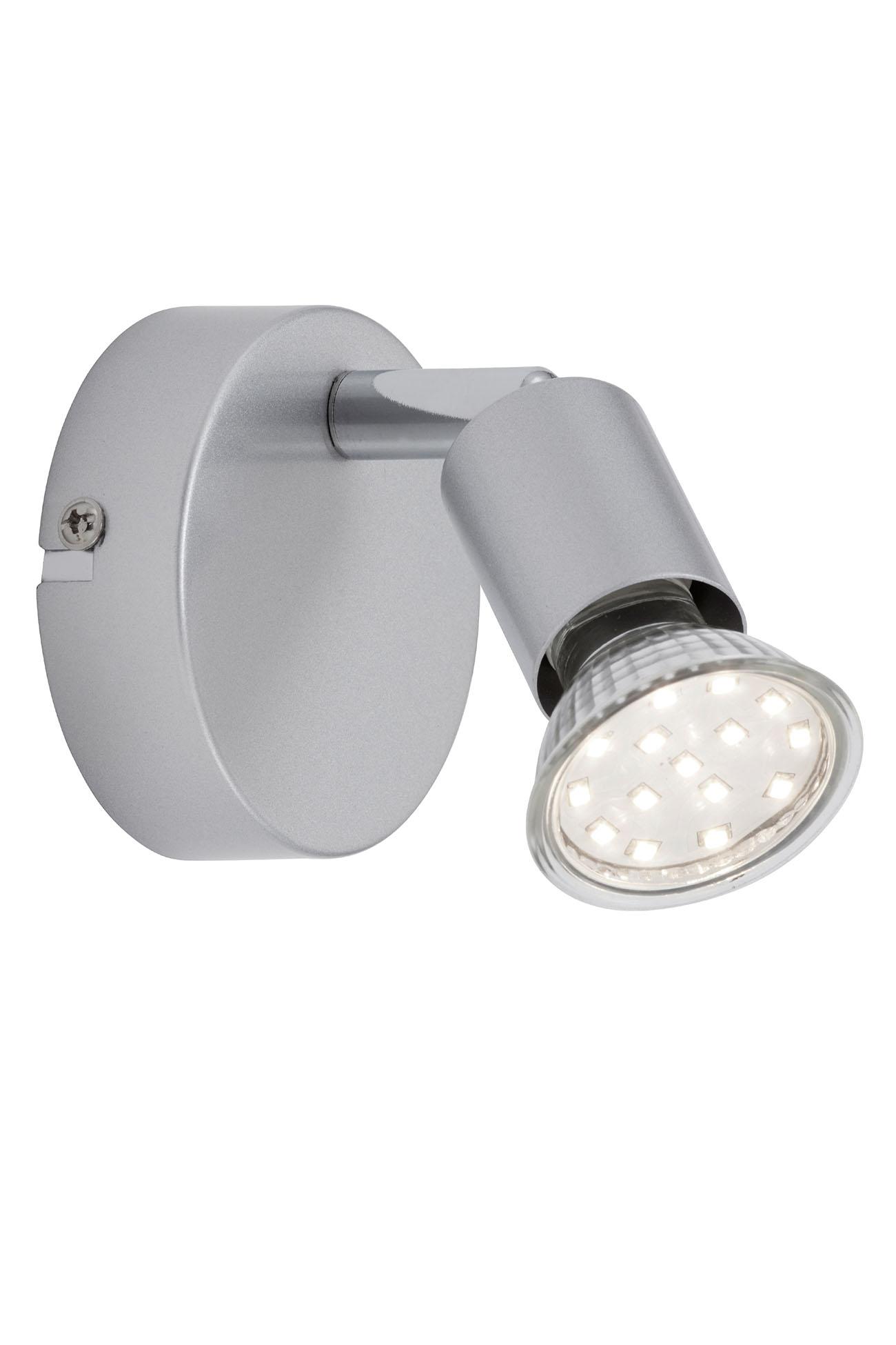 LED Spot Wandleuchte, Ø 8 cm, 3 W, Titan