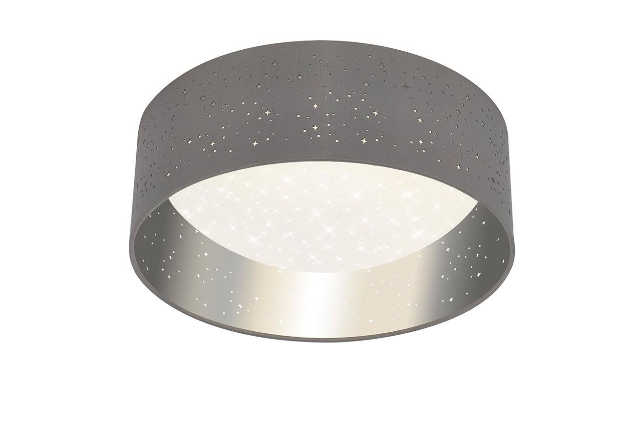 STERNENHIMMEL LED Deckenleuchte, Ø 32,5 cm, 12 W, Grau-Silber