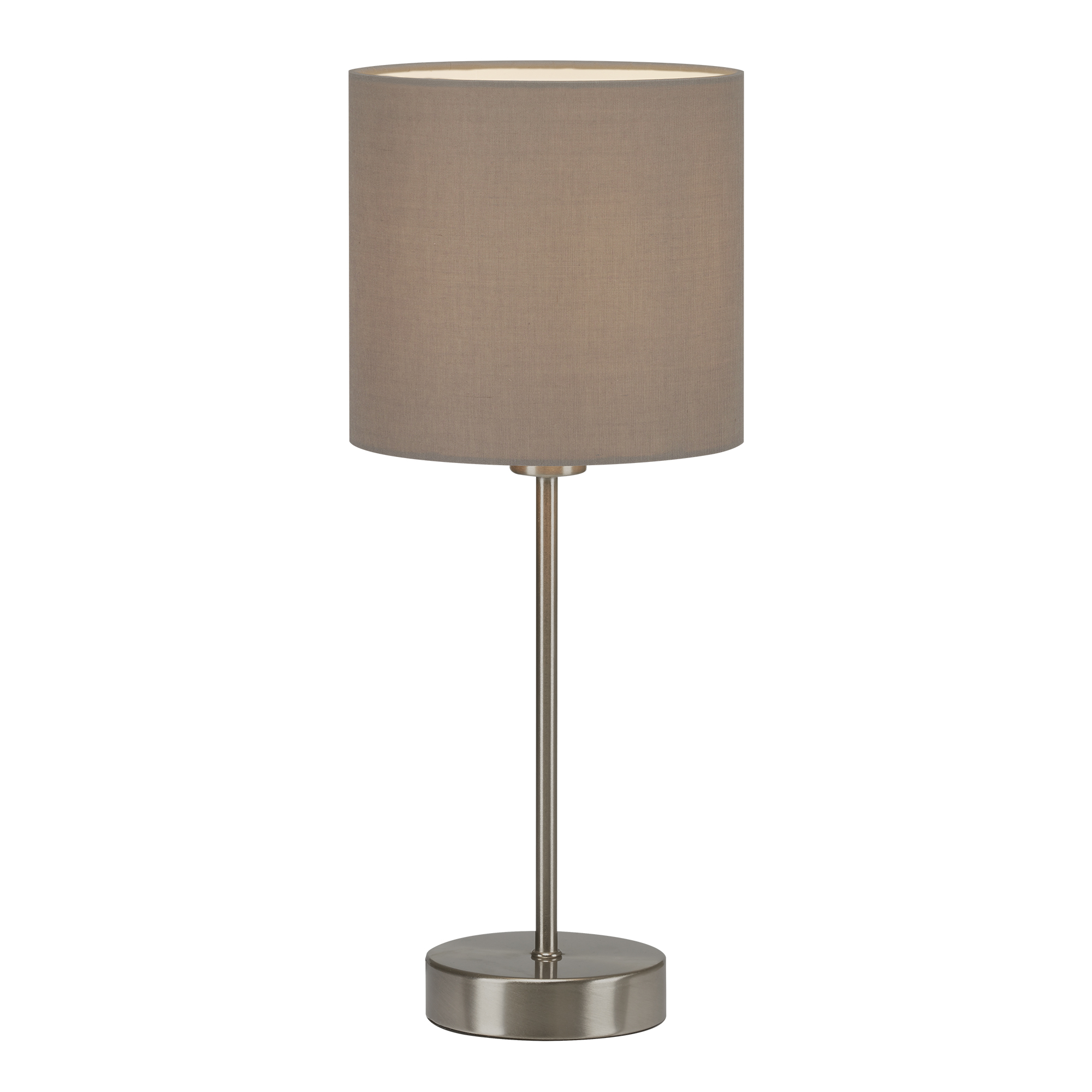 LED Tischleuchte, max. 25 W, 38,5 cm, Taupe