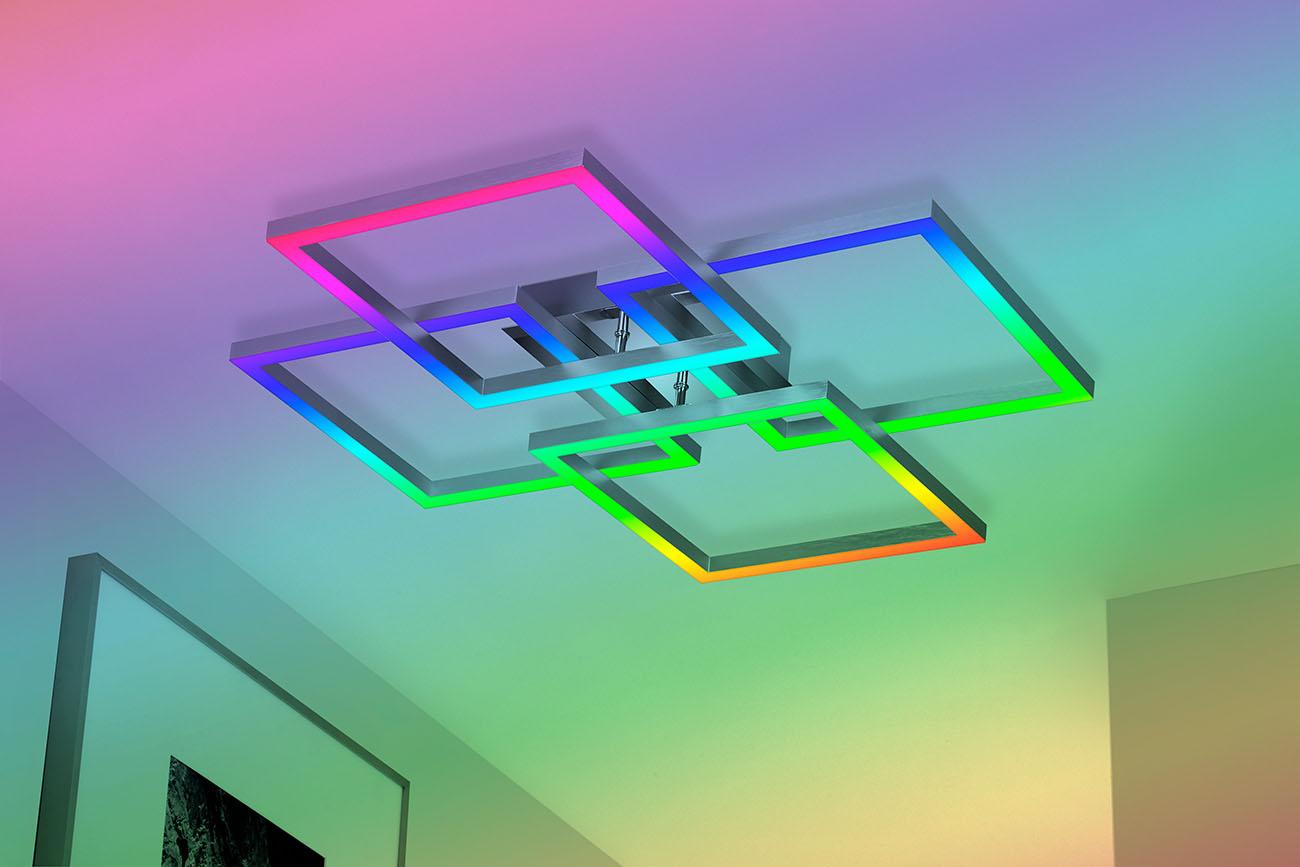 TELEFUNKEN Smart LED Deckenleuchte, Ø 76 cm, 60 W, Weiss