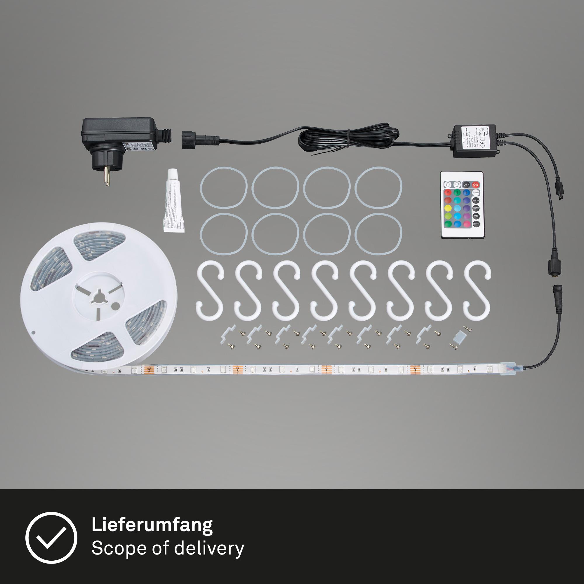 RGB LED Flexband, 5 Meter, 24 W, Weiß