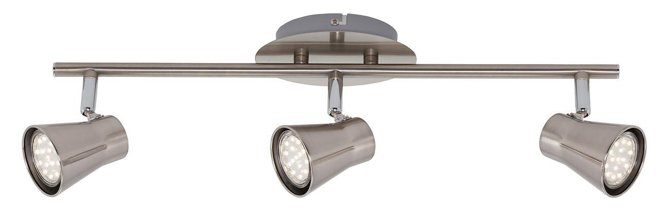 LED Spot Deckenleuchte, 48,5 cm, 9 W, Matt-Nickel