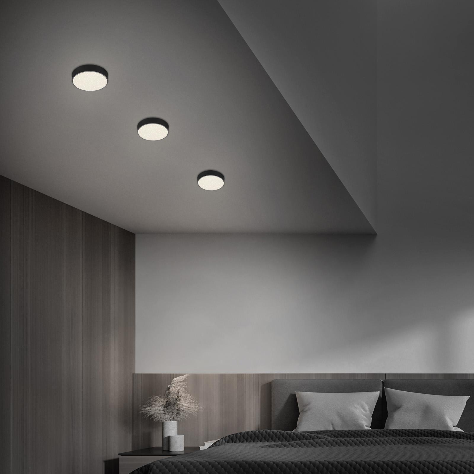 Sternenhimmel LED Deckenleuchte schwarz