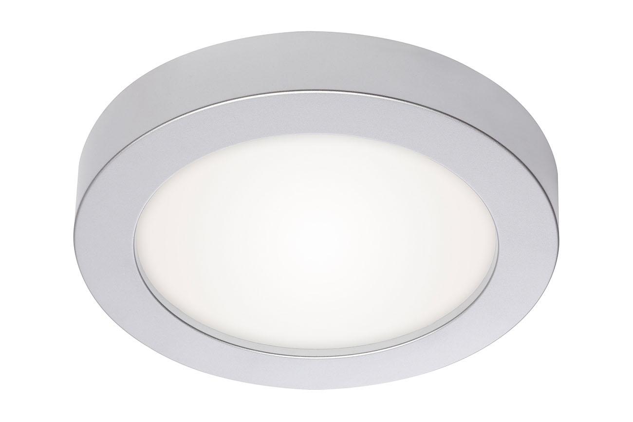 2in1 LED Auf- und Einbauleuchte, Ø 22,6 cm, 18 W, Chrom-Matt