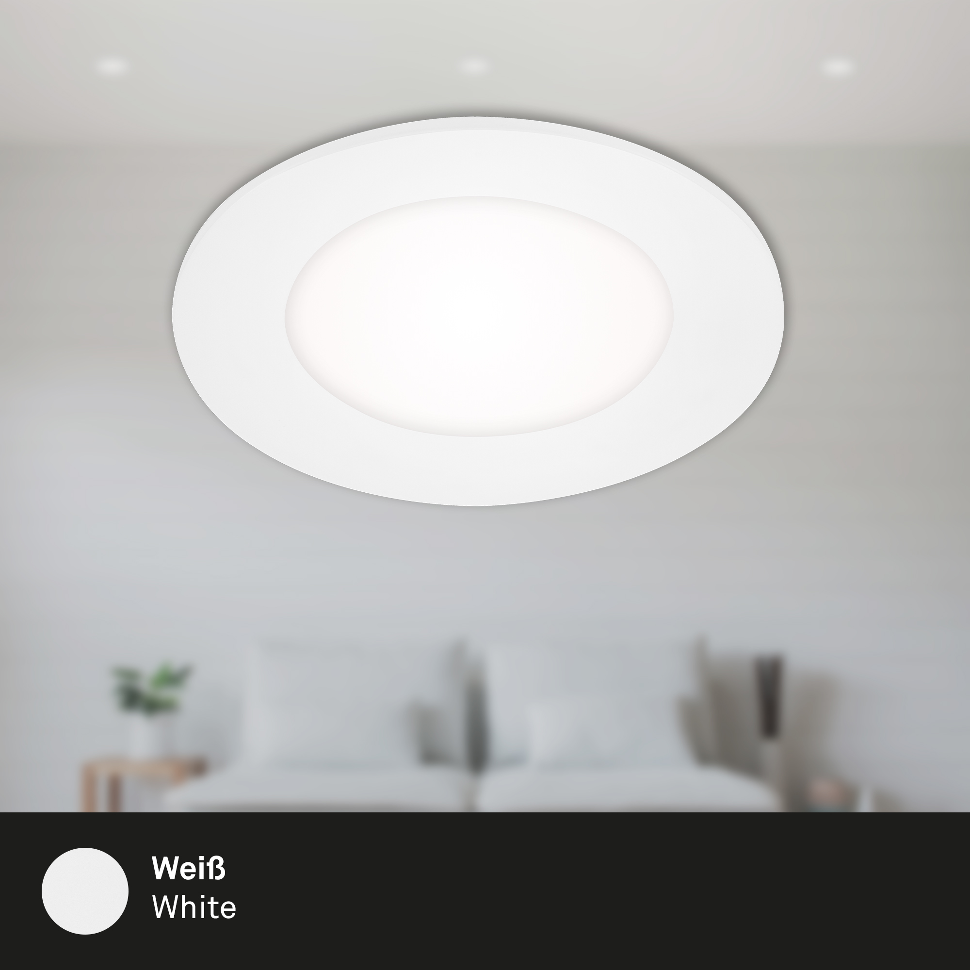 LED Einbauleuchte, Ø 8,6 cm, 3 W, Weiß
