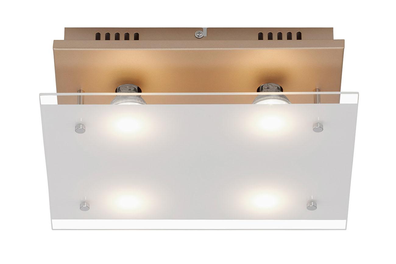 LED Deckenleuchte, 33 cm, 16 W, Gold