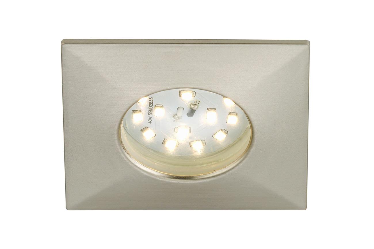 LED Einbauleuchte, 7,5 cm, 5 W, Matt-Nickel