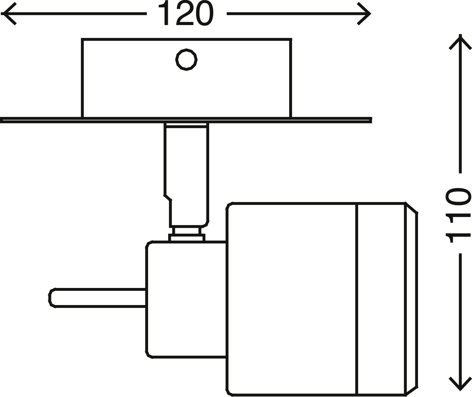 LED Spot Wandleuchte, 11 cm, 4 W, Chrom