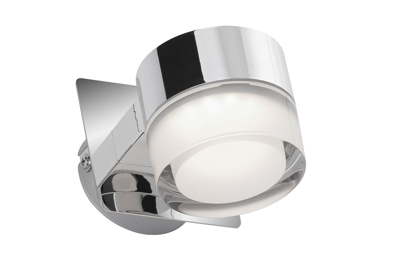 LED Spot Wandleuchte, 8 cm, 5 W, Chrom