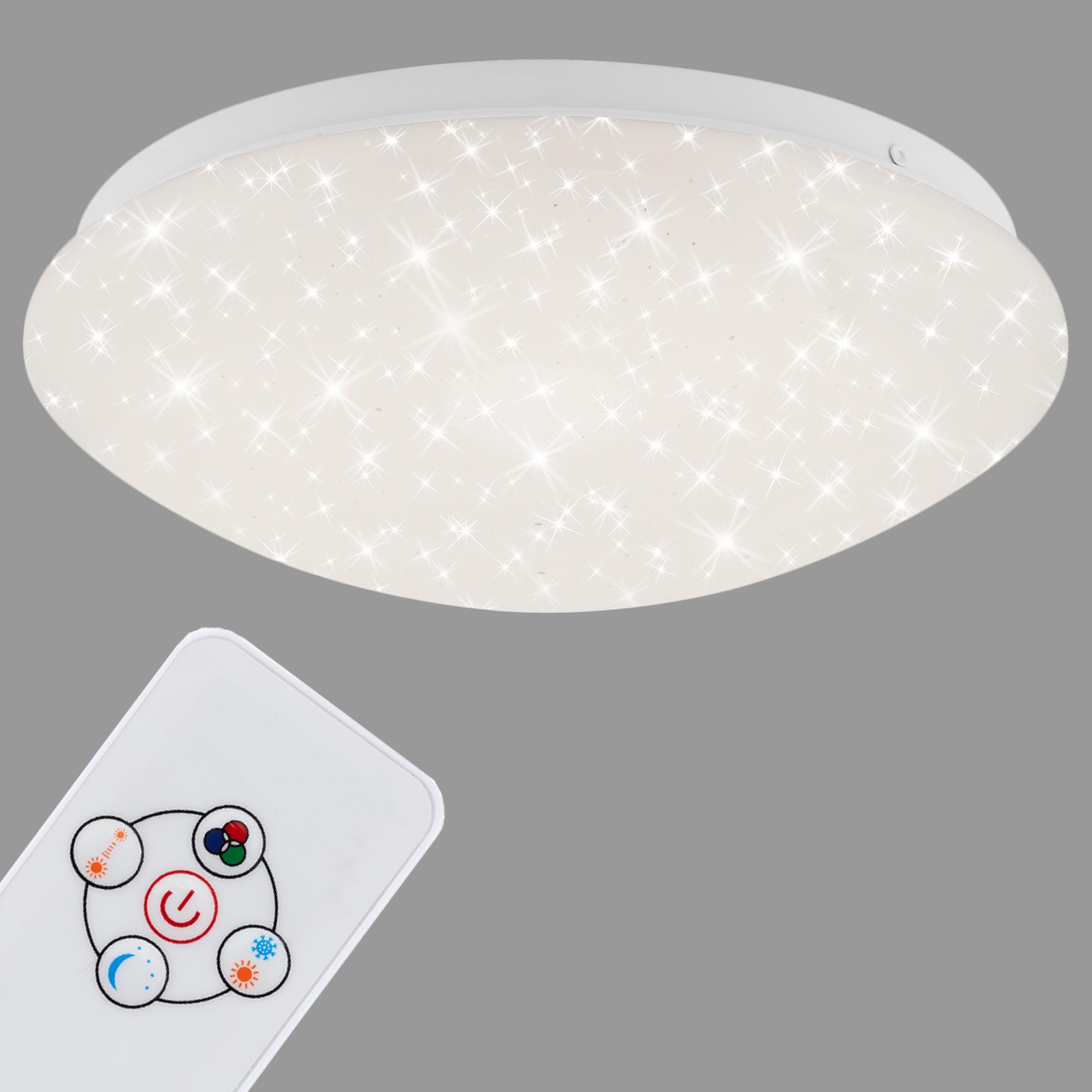 RGB Farbwechsel LED Deckenleuchte, Ø 26 cm, 10 W, Weiss