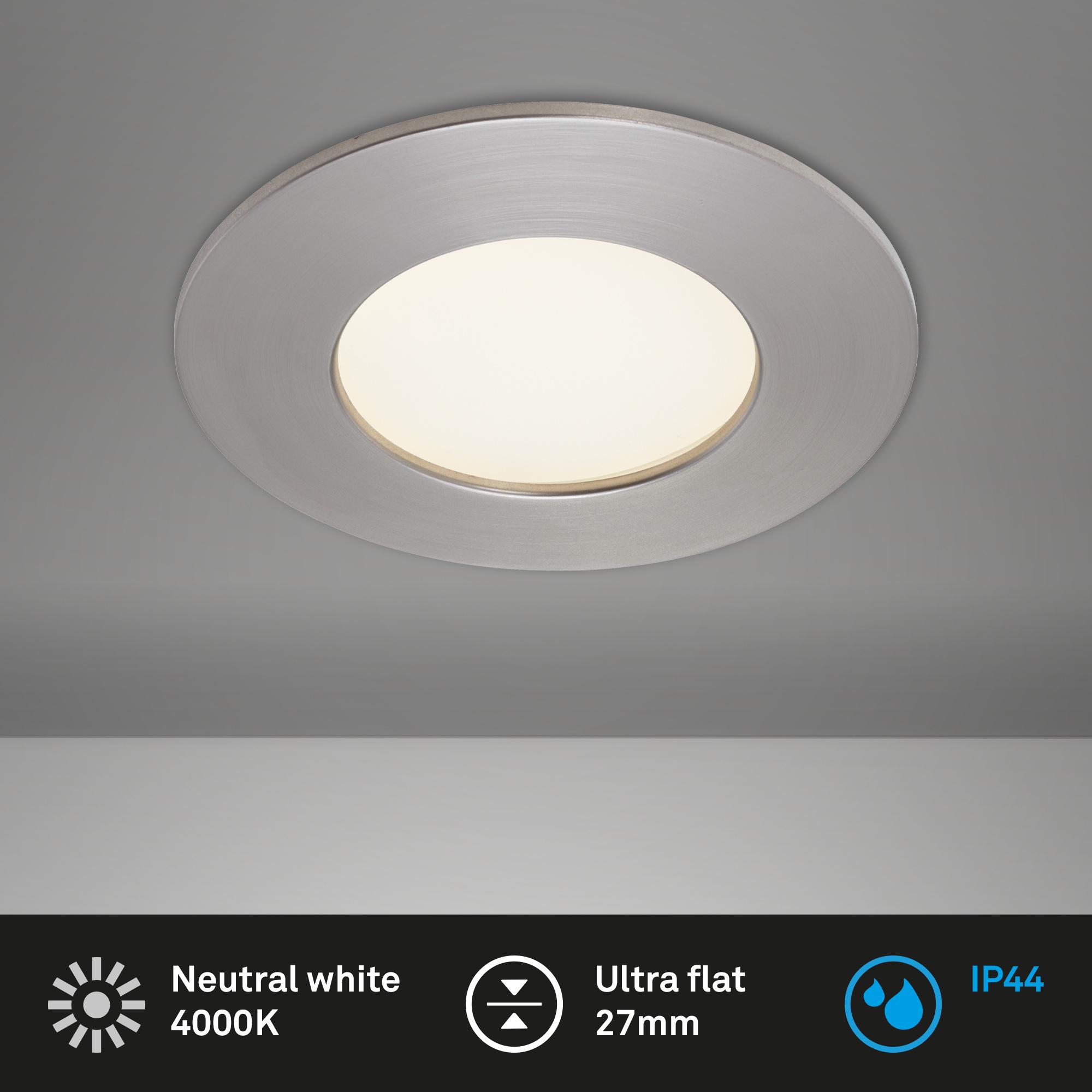 LED Einbauleuchte, Ø 8,5 cm, 5 W, Matt-Nickel